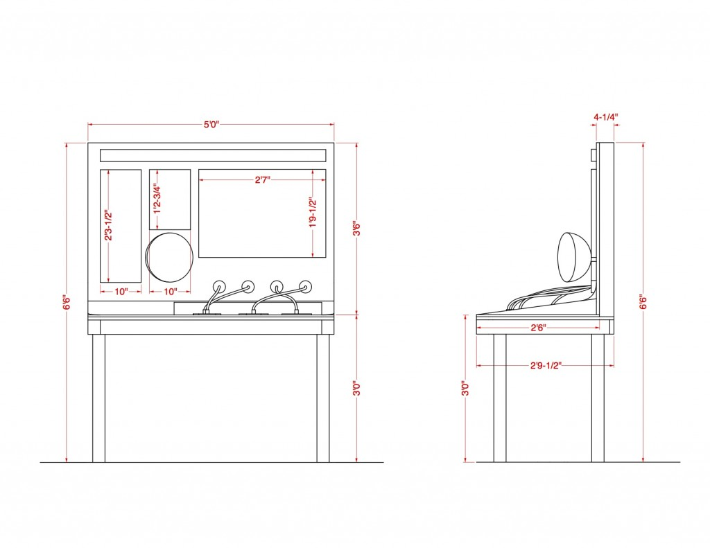 Technical Drawing of Exhibit