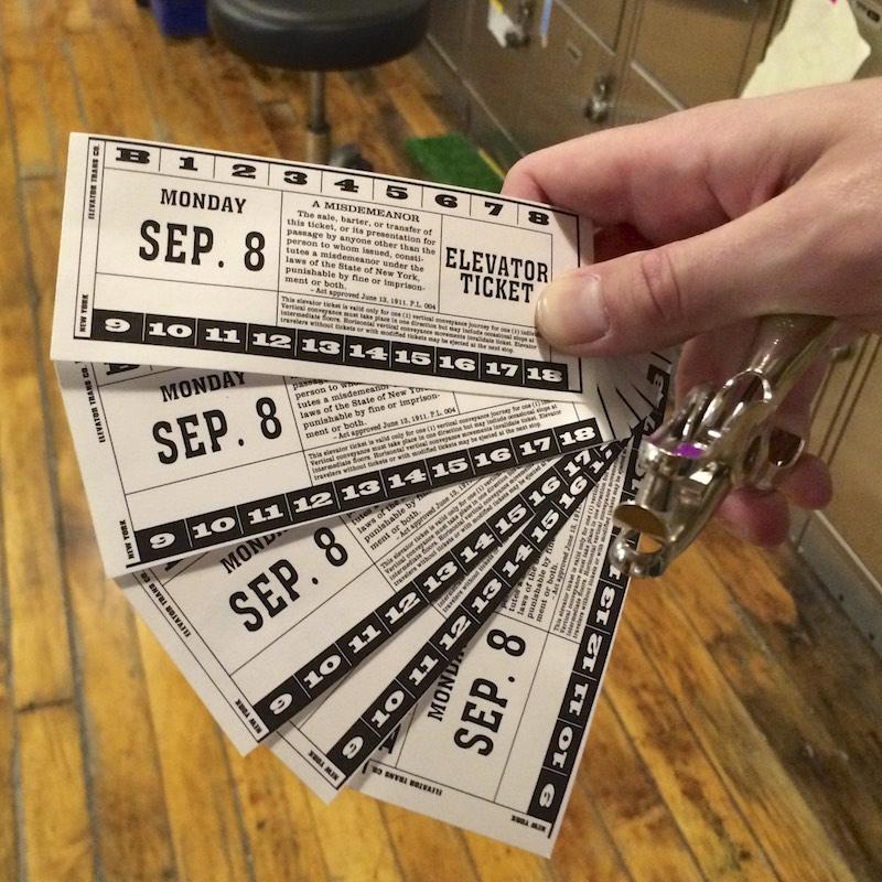 Elevator Tickets
